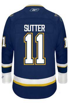 St. Louis Blues VINTAGE Brian SUTTER  11  C  Official Third Reebok Premier 27c49b375