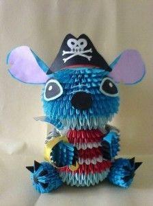 3D Origami Pirate Stitch