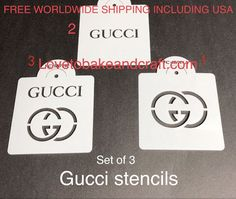 Guccistencil Guccicake Guccicupcake Guccicookies All of our customers love all our new designer brand decorating stencils that are best used with Cake Decorating Company, Cake Decorating Tools, Gucci Cake, Cupcake Mold, How To Make Purses, Cake Logo, Gum Paste, Sugar Paste, Fondant Molds