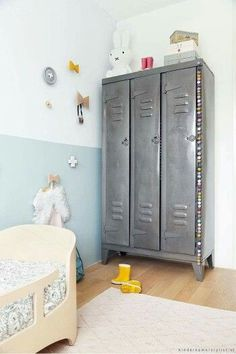 Lockers in Kids' Room | #KidsRoom #InteriorDesign