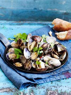 seafood bbq shells food photography: Wout Hendrickx blue sea delicious