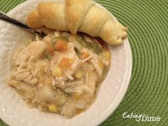 "Here is my Crockpot Chicken Pot Pie Recipe – yes you read that right… we are making it in the crockpot. Basically you are just making the ""insides"" of the pie. Then you serve it with some yummy biscuits or crescent rolls (that you can normally get free or cheap with coupons!). You could even …"