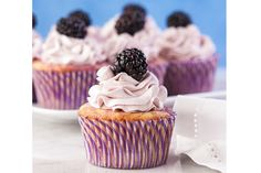 Blackberry Lemon Cupcake Recipe