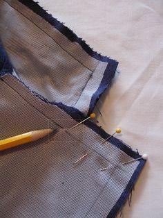 Blue cord collar inside