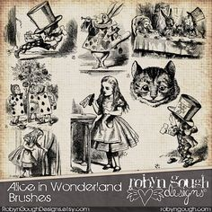 Alice In Wonderland Clip Art & Photoshop Brushes         January 30, 2014 at 09:51AM