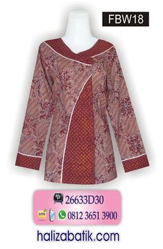 Baju Batik Online, Baju Batik Kantor, Mode Baju Terkini, FBW18