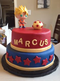 Dragonball Z Cake Had to make this for my baby, while sick with the flu...