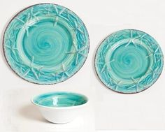 Turquoise Terracotta Style Starfish Luxury Non-Breakable Dinnerware