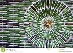 como crear circulos en muros de botellas - Buscar con Google