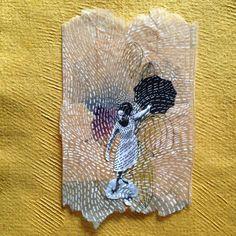 Ruby Silvious creates intricate illustrations on teabags: 363 Days of Tea - Artists Inspire Artists Tea Bag Art, Tea Art, Altered Canvas, Used Tea Bags, Fabric Journals, Fabric Books, Coffee Art, Textile Art, Dibujo