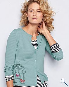 love this whimsical birdcage cardigan!