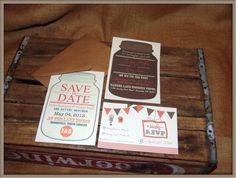 Template Combo Pack Mason Jar Save The Date And Invitation Rsvp