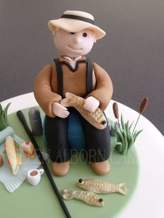 Personalised fisherman cake for a 60th birthday.