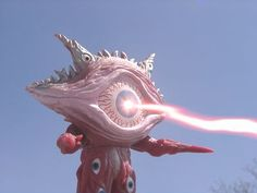 "Kaiju Gan Q (ガン Q 怪獣) from Ultraman Gaia episode 6 ""The Mocking Eye"""