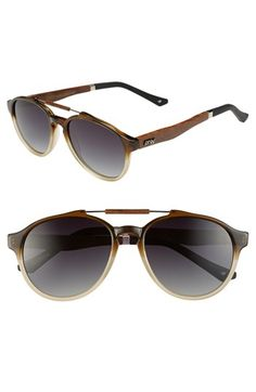 Proof Eyewear  Chinook  51mm Polarized Wood Temple Aviator Sunglasses    Nordstrom ae7c721144c4