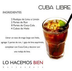 Cuba Libre - Festejá con Estilo Como preparar un Cuba Libre de LO HACEMOS BIEN bartenders www.lohacemosbien.com.ar
