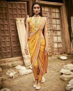 Are you bored of the old-fashioned saree draping styles? We have some awesome and unique saree draping styles for you. Saree Draping Styles, Drape Sarees, Saree Styles, Dhoti Saree, Anarkali, Churidar, Khada Dupatta, Salwar Kameez, Indian Attire