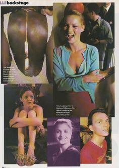 Helena does London ELLE UK April 1998 | Alek Wek, Kate Moss, Devon Aoki, Helena Christensen and Matthew Williamson.