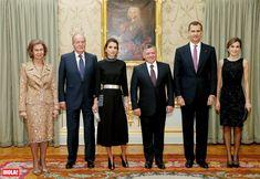 Seis reyes de cena privada en el Palacio de El Pardo - Cena privada en el Palacio de El Pardo en honor a los Reyes de Jordania