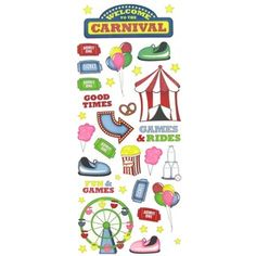 Stickabilities Carnival Glitter Stickers | Hobby Lobby
