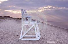 Lifeguard chair on beach, Cape Cod