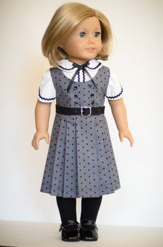 Love how the mini ric-rac was used on the blouse!  (Just for inspiration; not a free pattern)