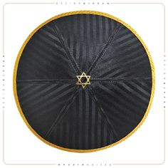Jewish kippah yarmulke. Wedding - Bar Mitzvah - Shabbat. David star. Hand crafted DesignKippah.
