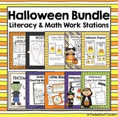 10 Halloween Centers for Kindergarten