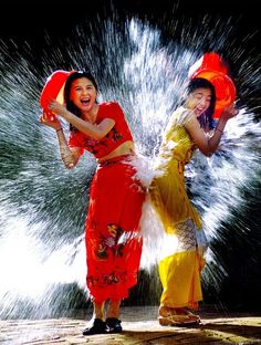 fun at the songkran water festival in thailand