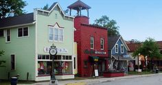 here on vacation with daughter, 2012. sweet little town. suttons bay shopping near traverse city, michigan.