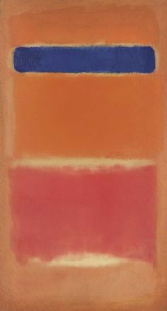 """Blue Over Red,"" 1953, Mark Rothko. Oil on canvas; 163.8 x 89.5 cm. Christie's 2005 sale: $5,616,000."