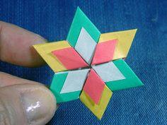 Abajo para las creaciones de la Tierra: Origami Estrella de David