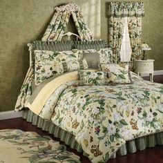 Magnolia Bedspread Set   Garden Images III Magnolia Floral Comforter Bedding