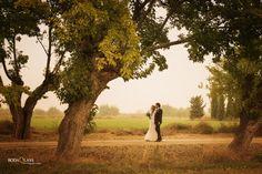 paseo romantico pareja novios reportaje boda
