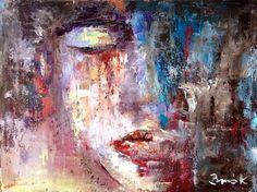 Do not cry,my dear....... Konrad Biro art oil canvas