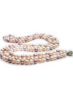 Lovely Colorful AA  42cm Women 7-8mm Freshwater Pearl Necklace. Lovely Colorful AA  42cm Women 7-8mm Freshwater Pearl Necklace. See More Pearl Necklaces at http://www.ourgreatshop.com/Pearl-Necklaces-C895.aspx