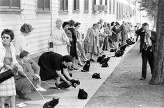 Black cats prepare to audition for a role in an Edgar Allen Poe movie adaptation, 1961.  (Ralph Crane—The LIFE Picture Collection/Getty Images)