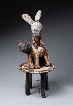 kerry jameson ceramics.  mixed media sculpture