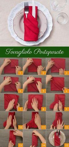 Tovagliolo Portaposate: semplice ed elegante. Segui gli step e scopri come prepararlo! [Silverware pouch napkin]