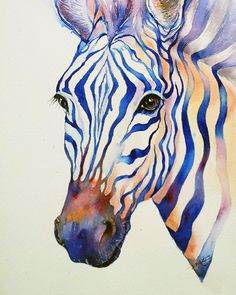 Intense Blue Zebra
