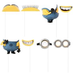 Your young party guests will have a blast dressing up like one of Gru's minions with these photo props!