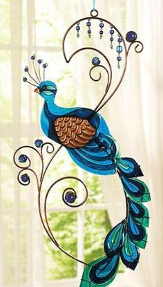 Metal Peacock Wall Art / http://www.biggerbids.com/auction-image-gallery.php?ig=4_id=311151_id=1826846
