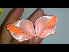 Цветок канзаши лента 2,5 см Мастер-класс / Kanzashi flower ribbon 2,5 cm Master class - YouTube