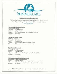 Summerlake Home Owners Association Agreement In Winter Garden FL |  Summerlake In Winter Garden, Florida | Pinterest | Winter Garden