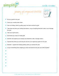 january get organized checklist