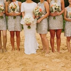 Silver and Coral Wedding Ideas
