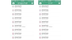 Snapchat中可以发现隐藏的信息-点按snapshat页眉-可以看到已接收信息和未读信息的数量。这难道不是一个很简易的UI设计吗?