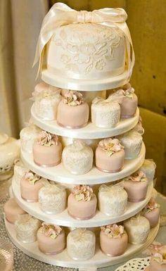 Mini cakes via ❤ Neutrals ❤