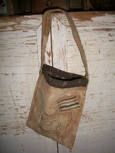 Primitive Canvas Book Bag by countrypresence on Etsy