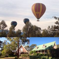 Hot air ballooning over Green Gables Lodge Country House